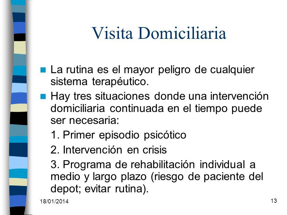 Visita DomiciliariaLa rutina es el mayor peligro de cualquier sistema terapéutico.
