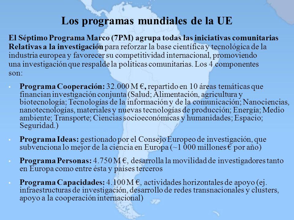 Los programas mundiales de la UE