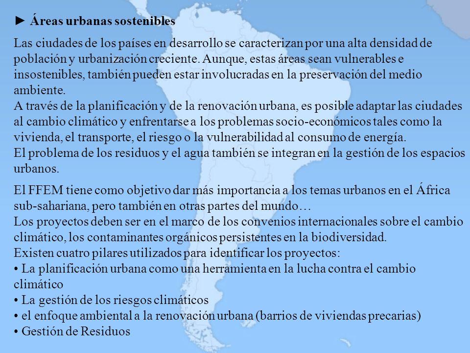 ► Áreas urbanas sostenibles
