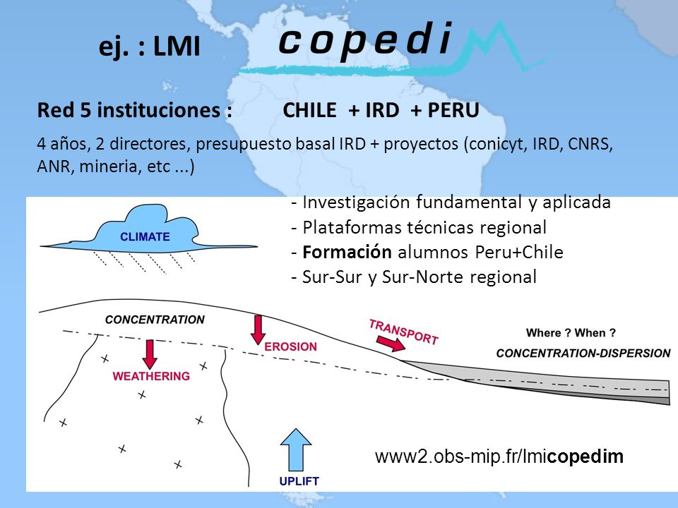 ej. : LMI Red 5 instituciones : CHILE + IRD + PERU