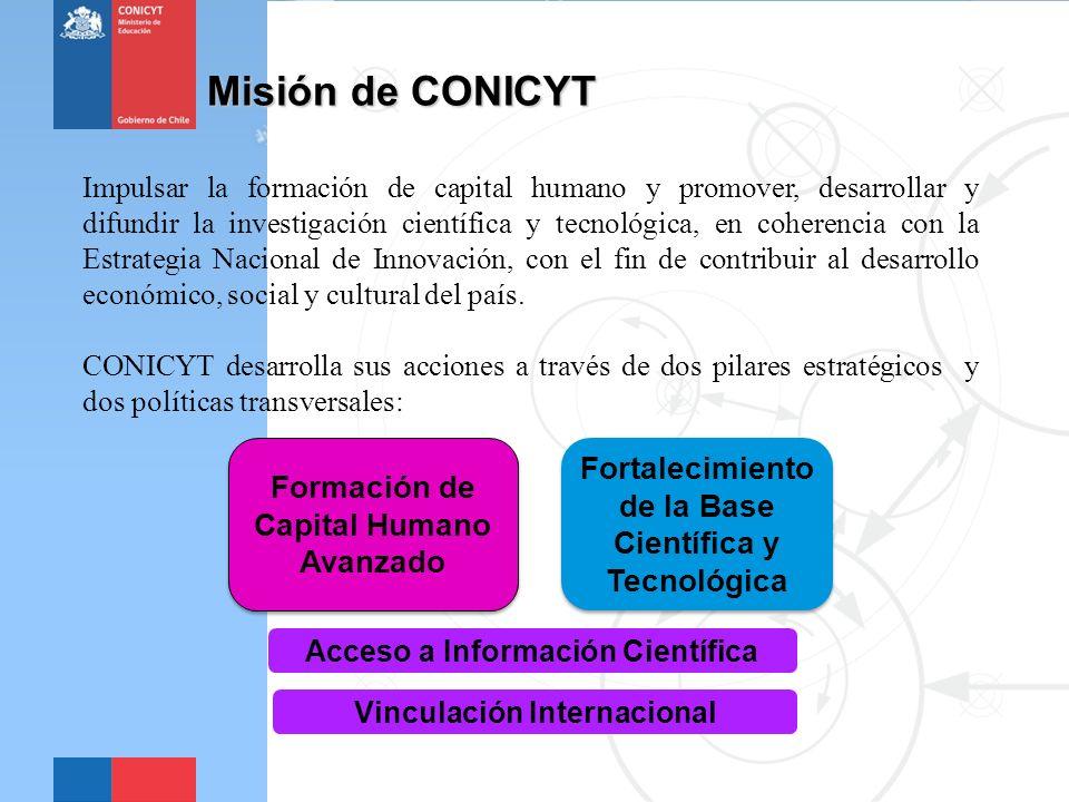Misión de CONICYT Fortalecimiento de la Base Científica y Tecnológica