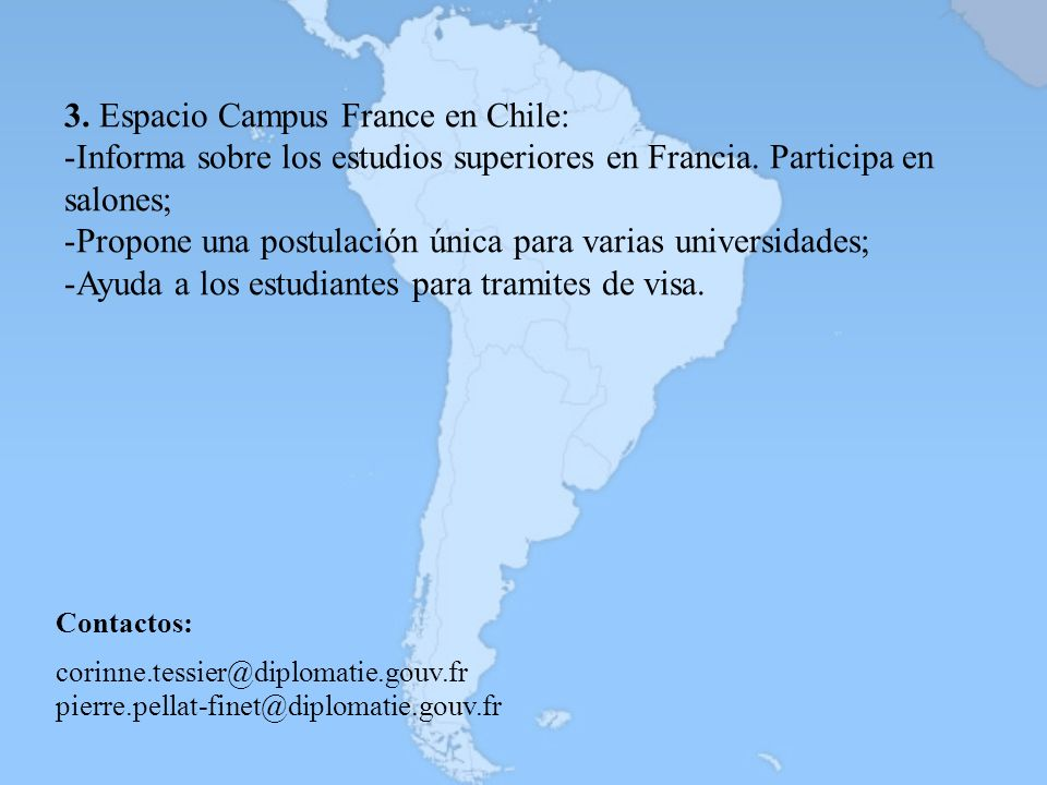 3. Espacio Campus France en Chile: