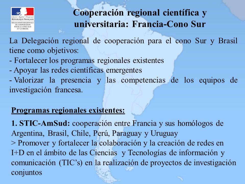 Cooperación regional científica y universitaria: Francia-Cono Sur