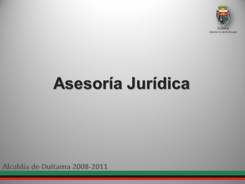 Asesoría Jurídica Alcaldía de Duitama 2008-2011 Duitama
