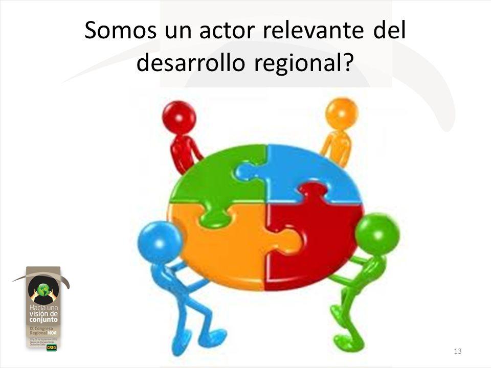 Somos un actor relevante del desarrollo regional