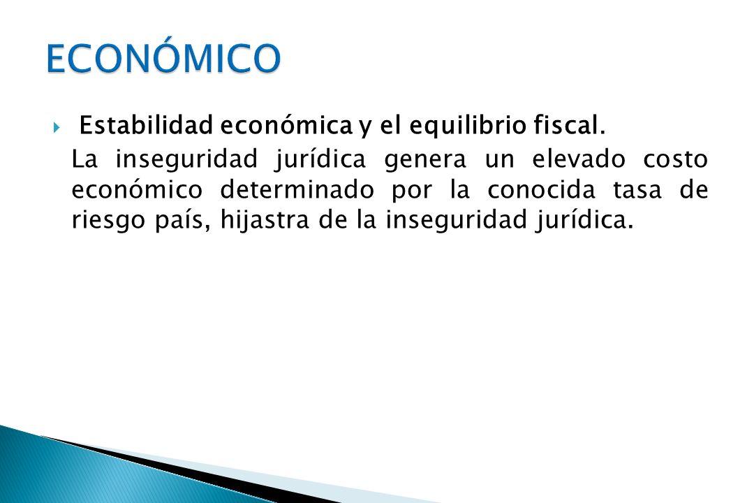 ECONÓMICO Estabilidad económica y el equilibrio fiscal.