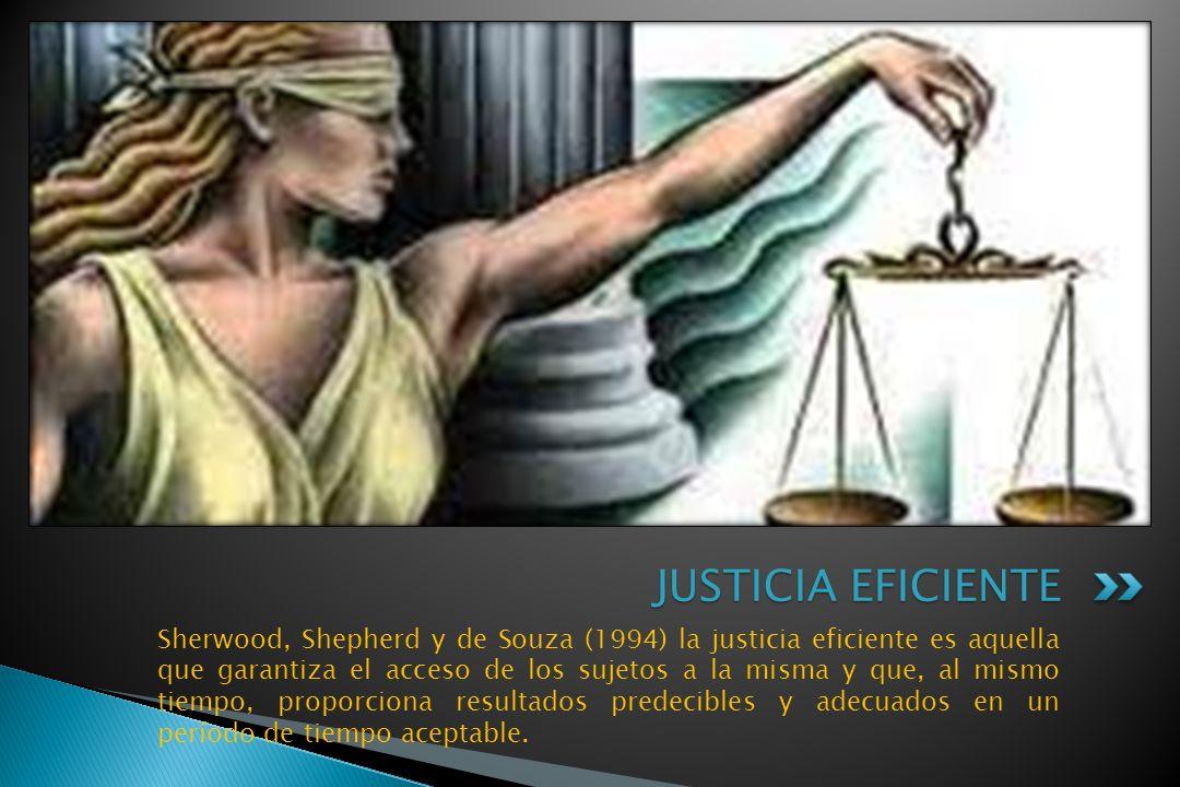 JUSTICIA EFICIENTE