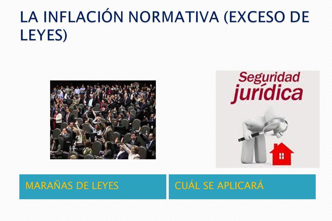LA INFLACIÓN NORMATIVA (EXCESO DE LEYES)