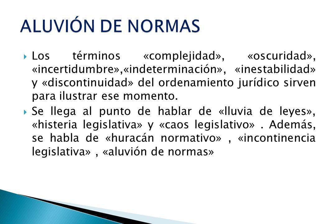 ALUVIÓN DE NORMAS