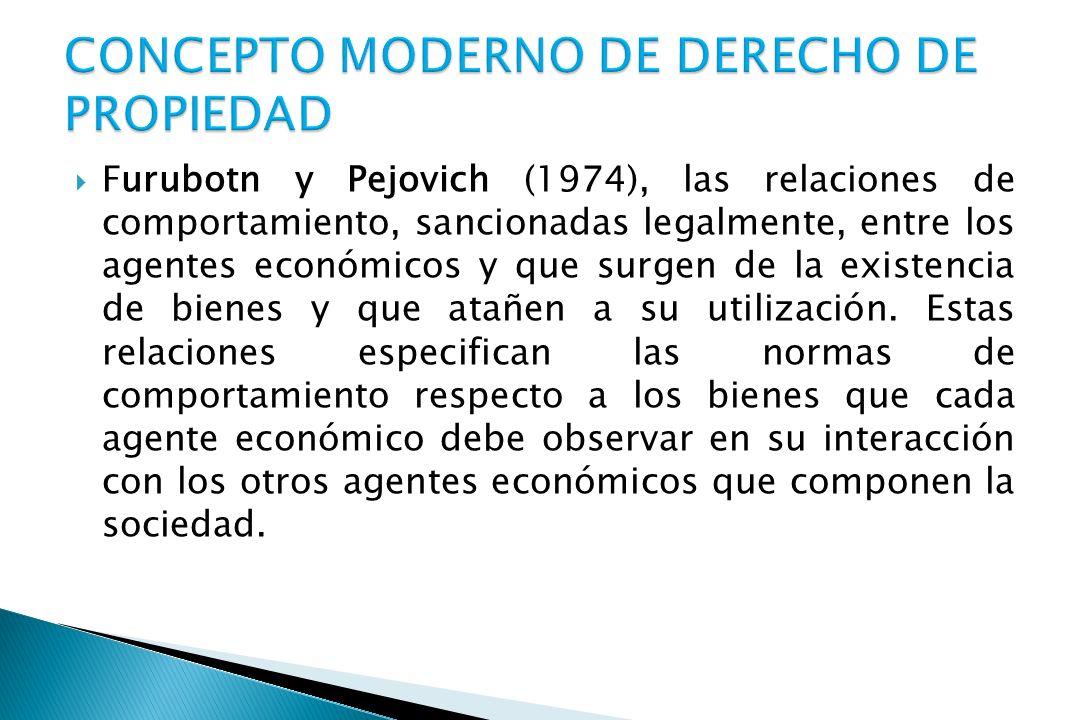 CONCEPTO MODERNO DE DERECHO DE PROPIEDAD