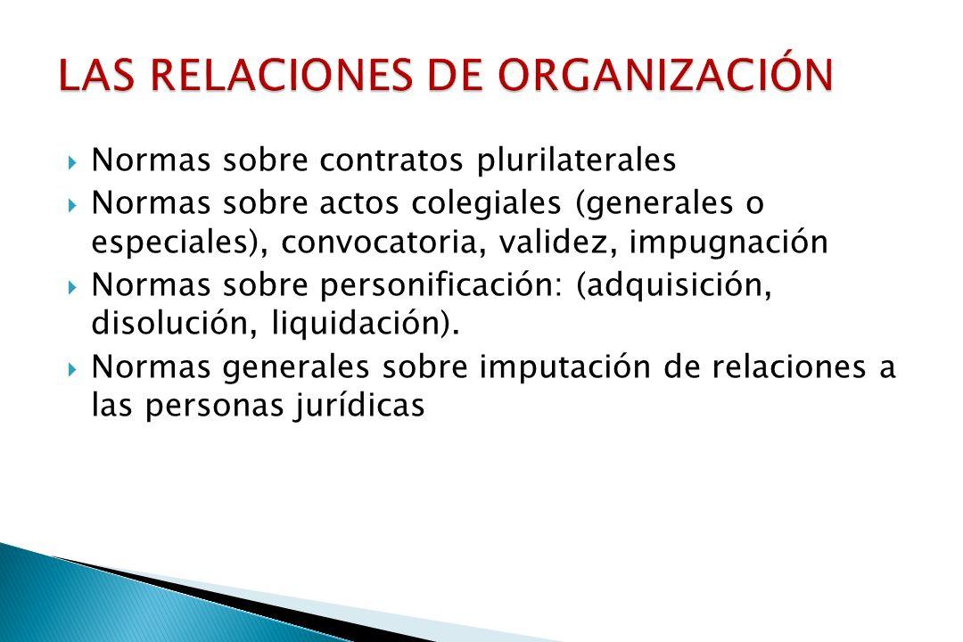 LAS RELACIONES DE ORGANIZACIÓN