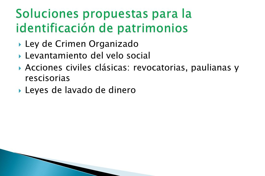 Soluciones propuestas para la identificación de patrimonios