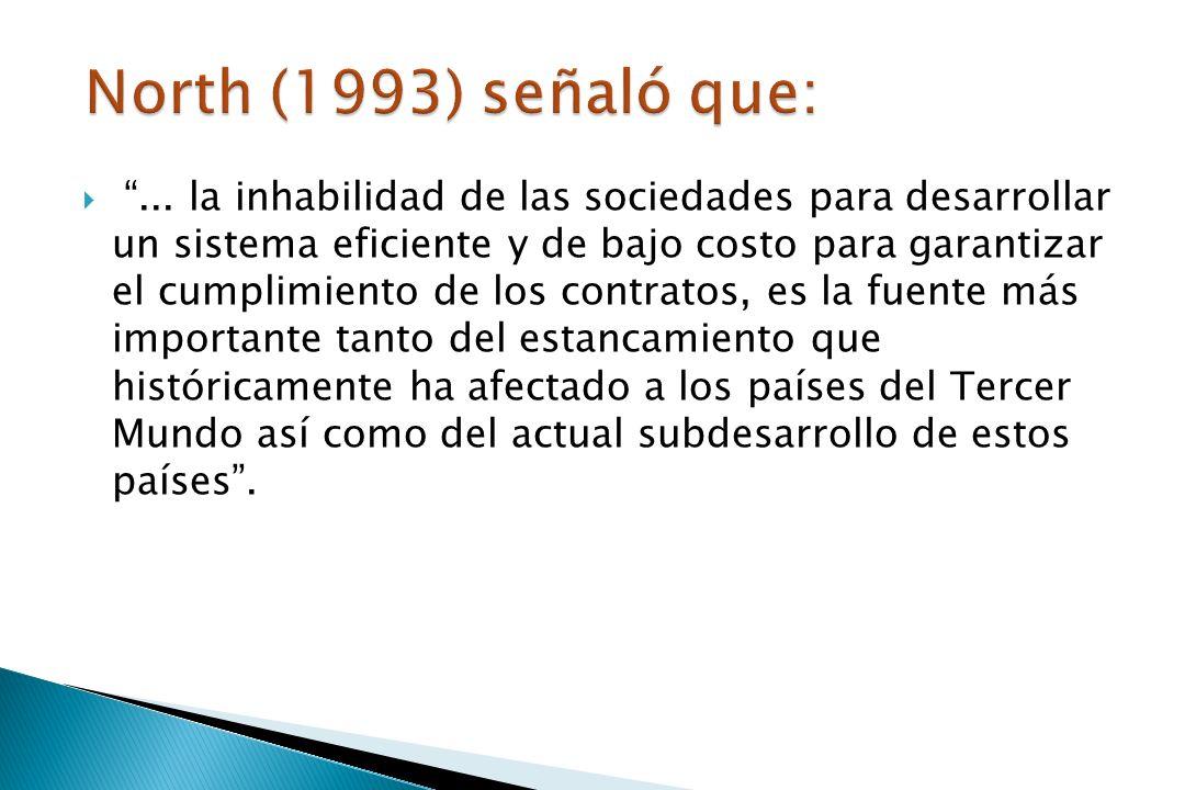 North (1993) señaló que: