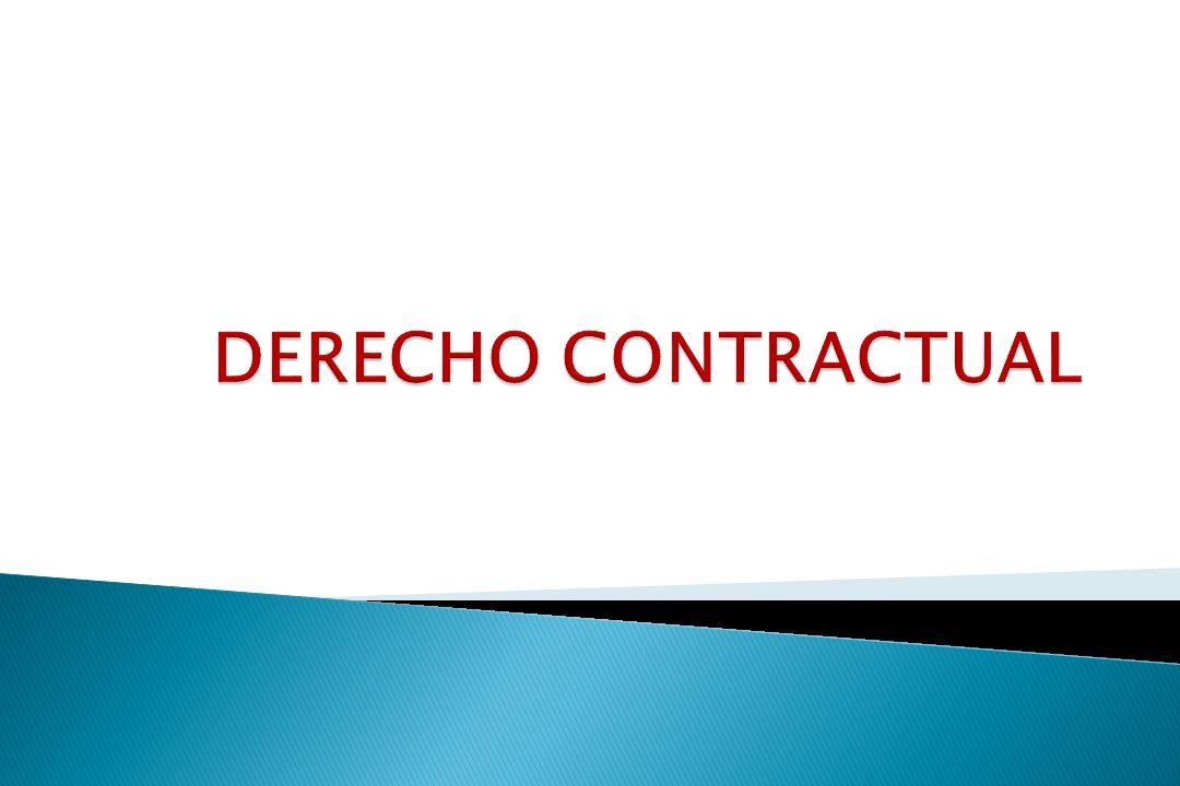 DERECHO CONTRACTUAL