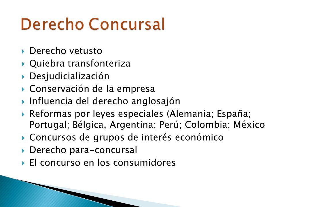 Derecho Concursal Derecho vetusto Quiebra transfonteriza
