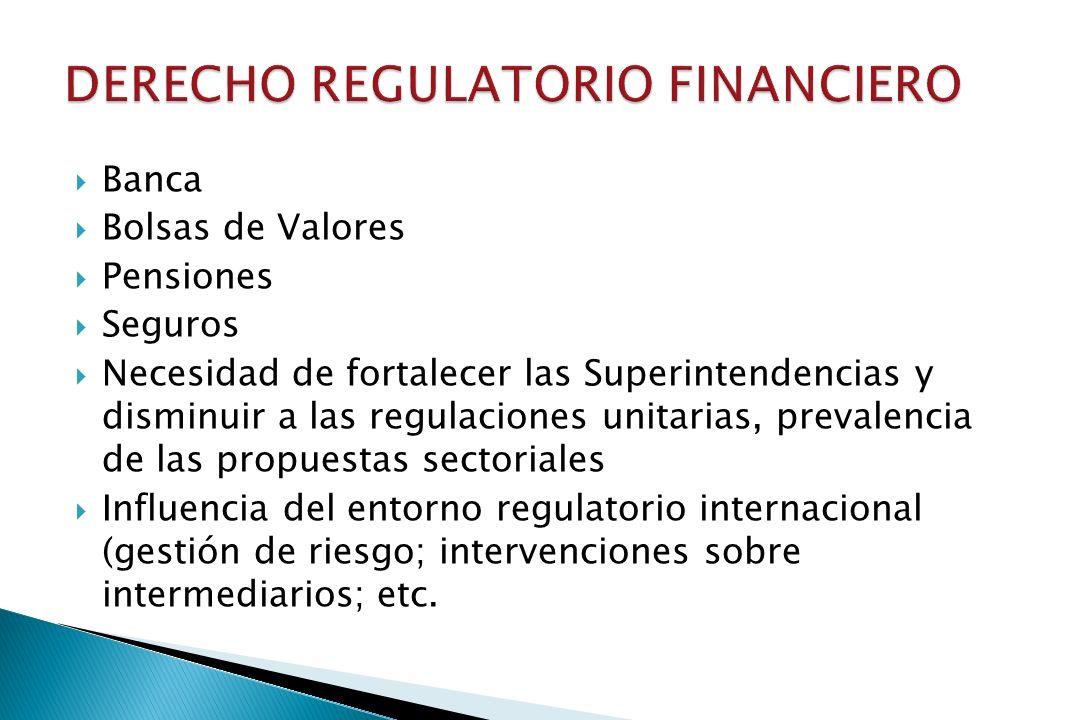 DERECHO REGULATORIO FINANCIERO