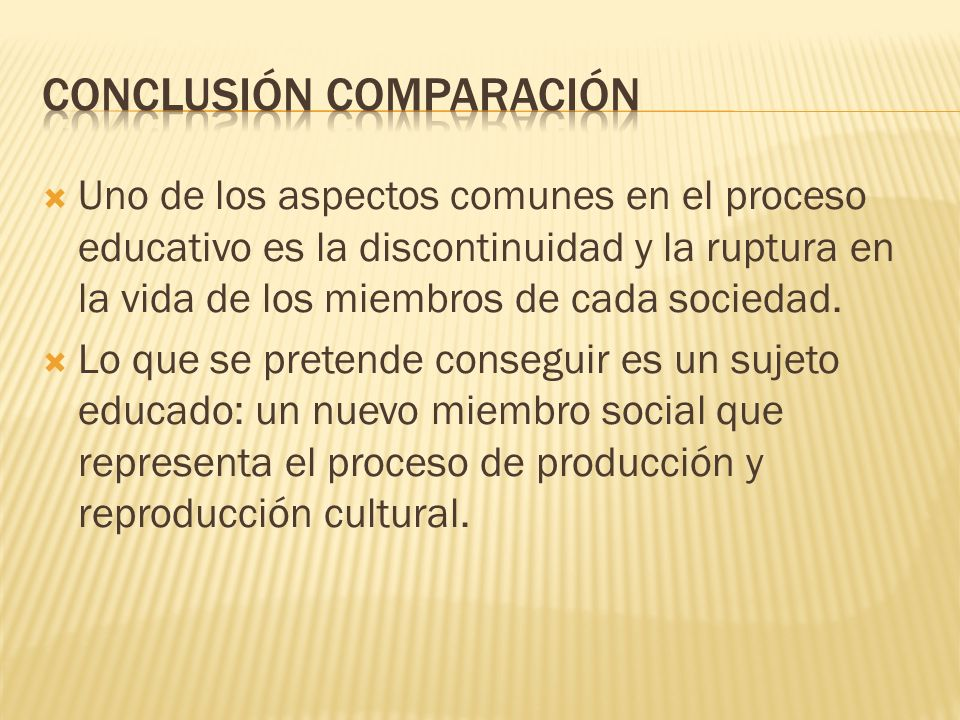 CONCLUSIÓN COMPARACIÓN