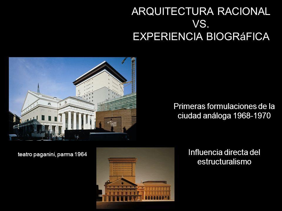 ARQUITECTURA RACIONAL VS. EXPERIENCIA BIOGRáFICA