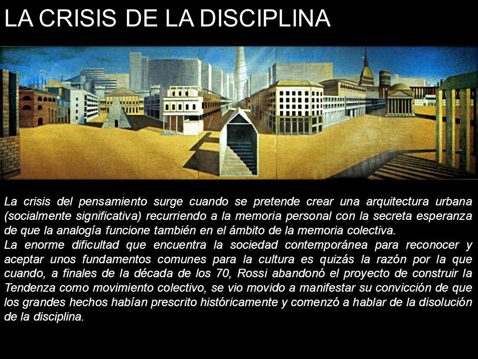 LA CRISIS DE LA DISCIPLINA