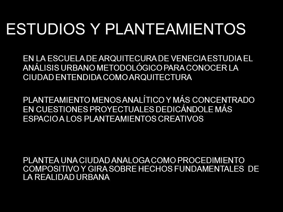 ESTUDIOS Y PLANTEAMIENTOS
