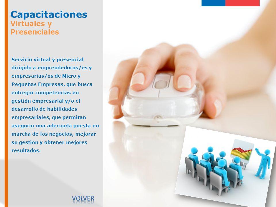 Capacitaciones Virtuales y Presenciales Volver