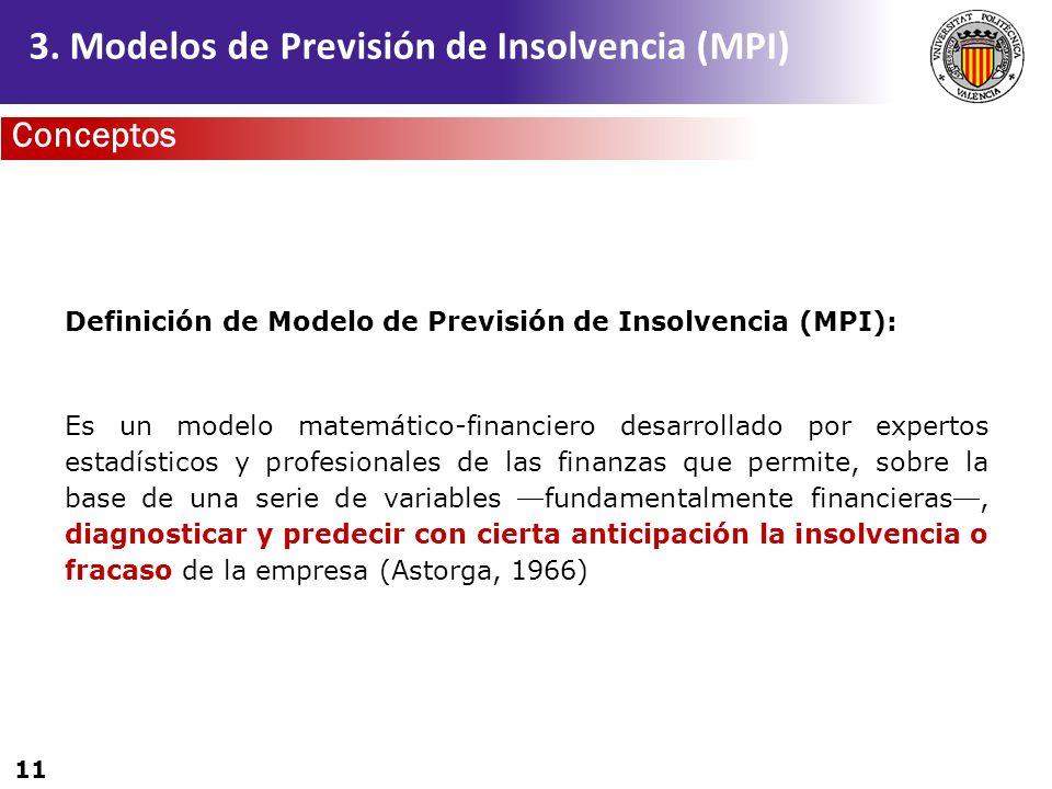 3. Modelos de Previsión de Insolvencia (MPI)