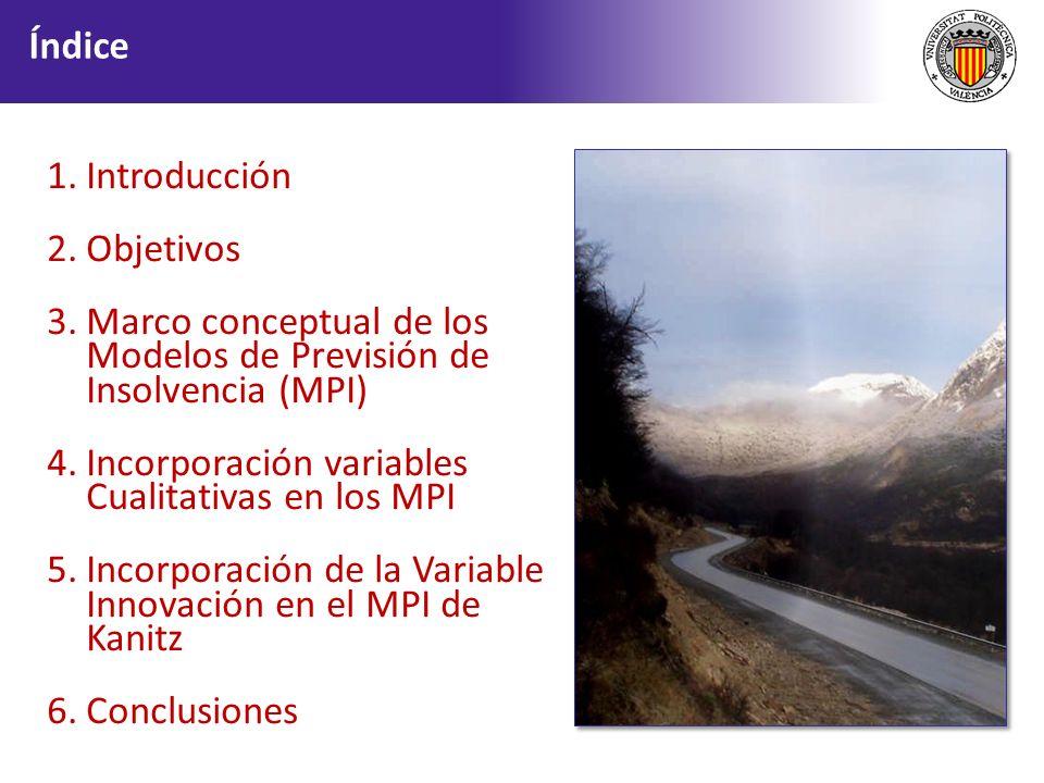 Marco conceptual de los Modelos de Previsión de Insolvencia (MPI)