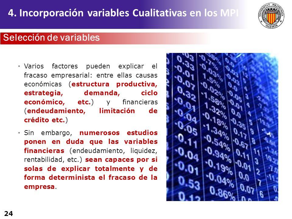 4. Incorporación variables Cualitativas en los MPI