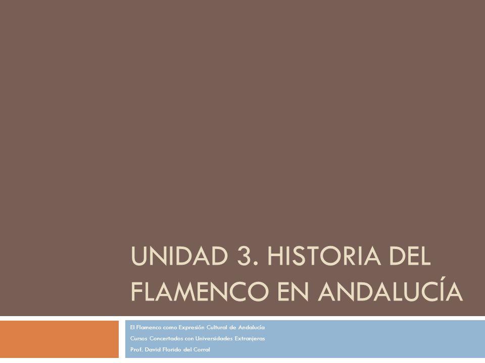 Unidad 3. Historia del Flamenco en Andalucía