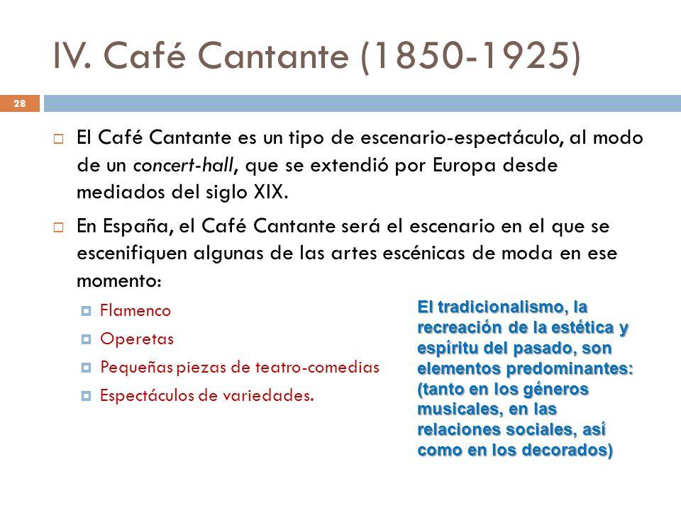 IV. Café Cantante (1850-1925)