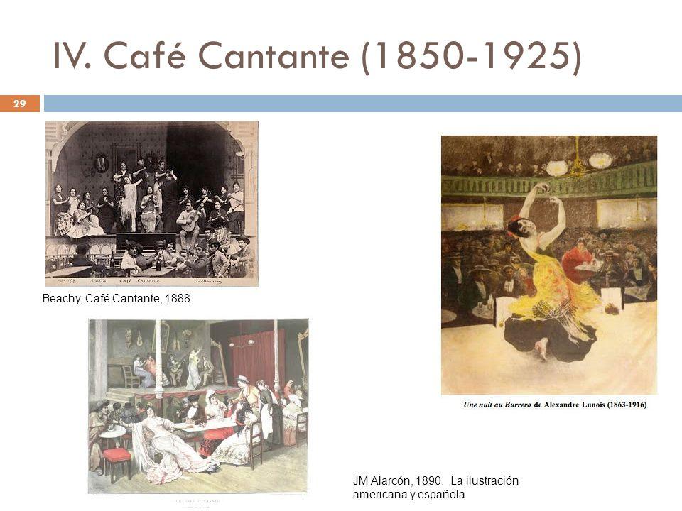 IV. Café Cantante (1850-1925) Beachy, Café Cantante, 1888.