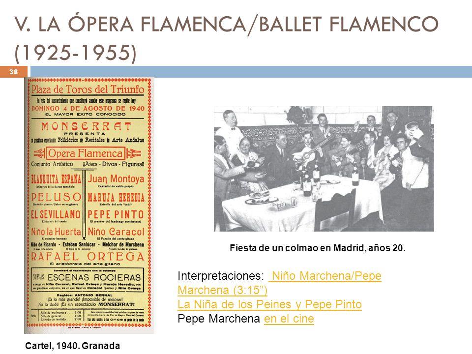 V. LA ÓPERA FLAMENCA/BALLET FLAMENCO (1925-1955)