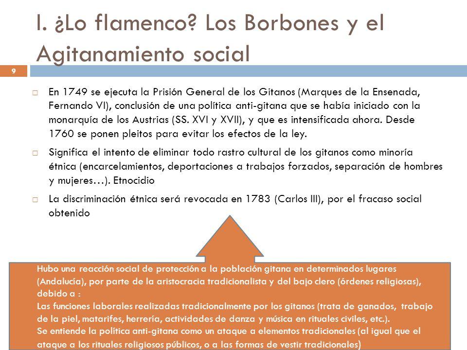I. ¿Lo flamenco Los Borbones y el Agitanamiento social