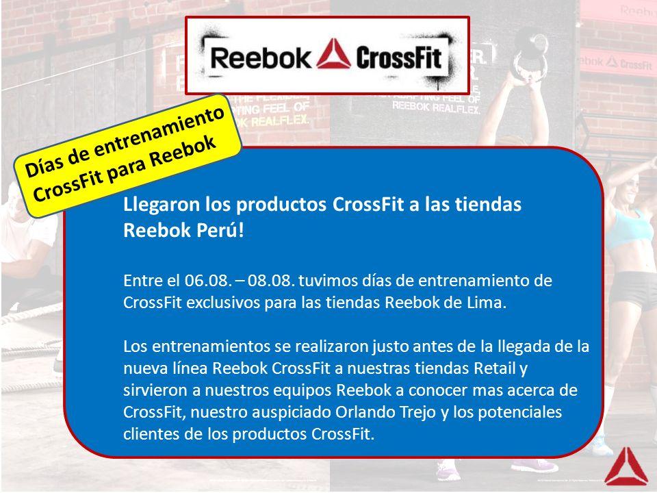 Llegaron los productos CrossFit a las tiendas Reebok Perú!