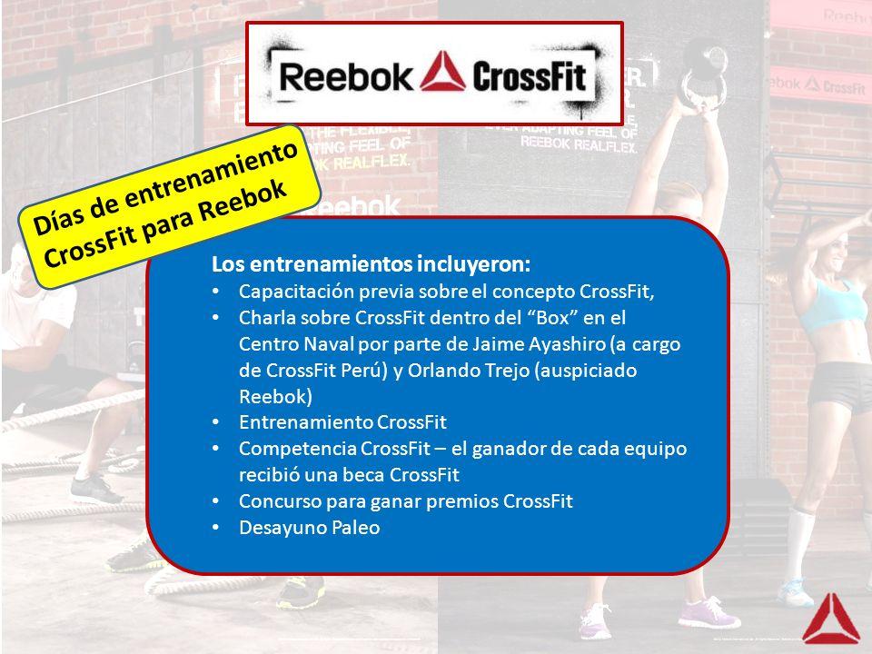 Días de entrenamiento CrossFit para Reebok