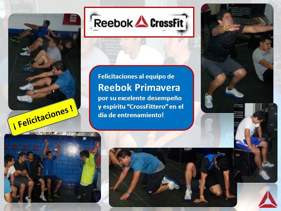 Felicitaciones al equipo de Reebok Primavera por su excelente desempeño y espíritu CrossFittero en el día de entrenamiento!