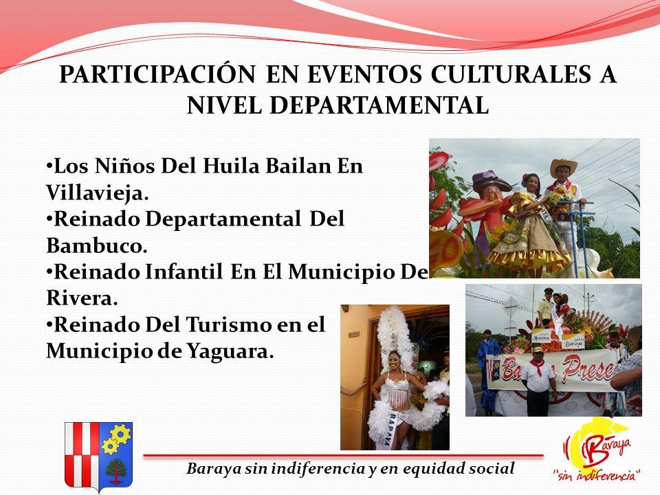 PARTICIPACIÓN EN EVENTOS CULTURALES A NIVEL DEPARTAMENTAL