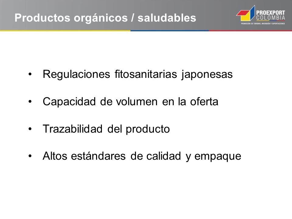Productos orgánicos / saludables