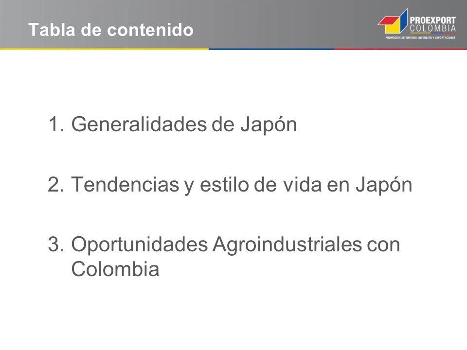 Generalidades de Japón Tendencias y estilo de vida en Japón