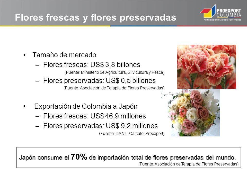 Flores frescas y flores preservadas