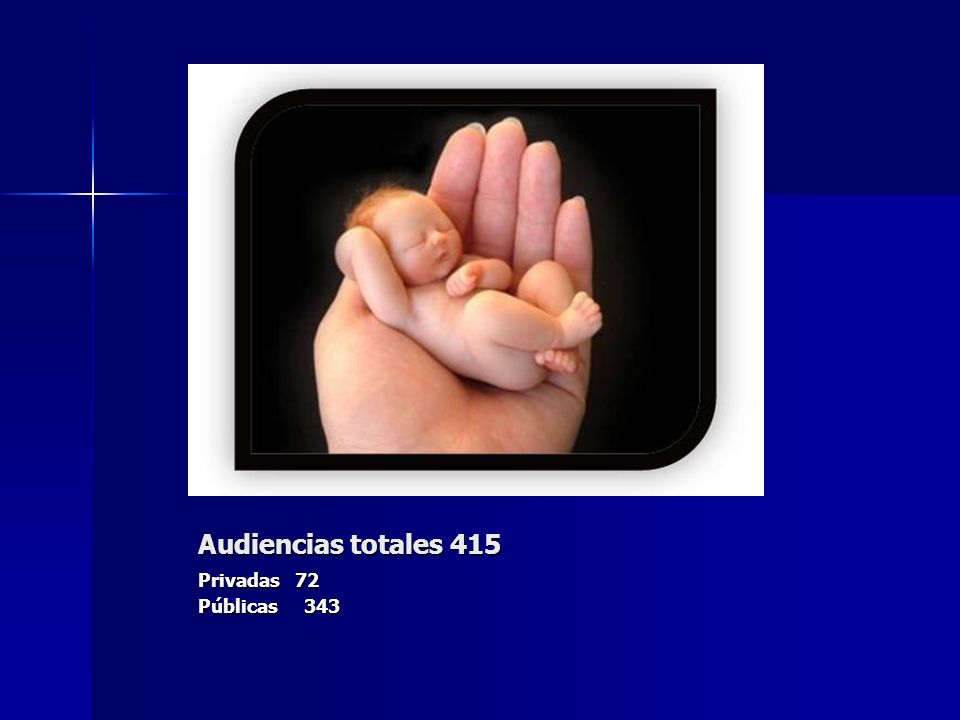Audiencias totales 415 Privadas 72 Públicas 343