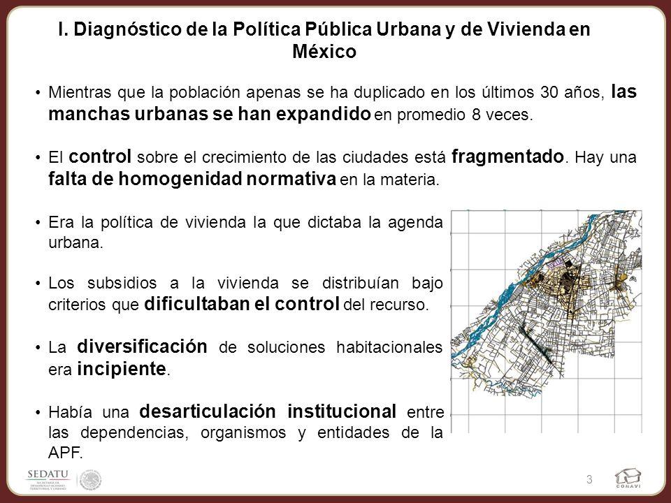 I. Diagnóstico de la Política Pública Urbana y de Vivienda en México