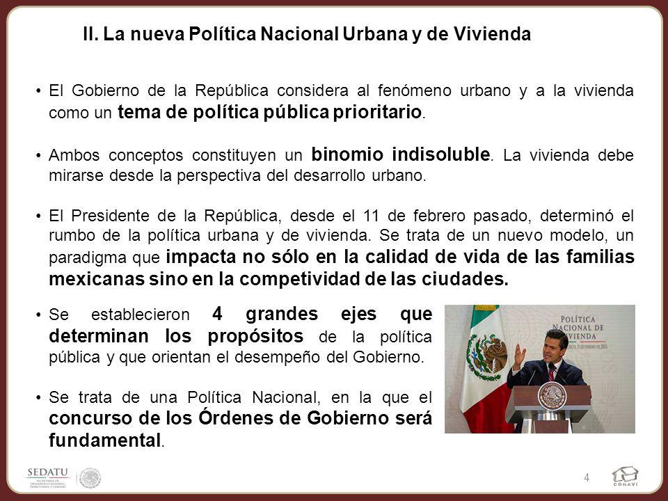 II. La nueva Política Nacional Urbana y de Vivienda