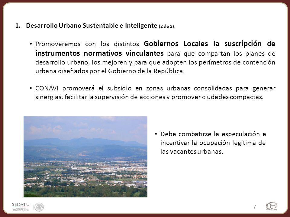 Desarrollo Urbano Sustentable e Inteligente (2 de 2).