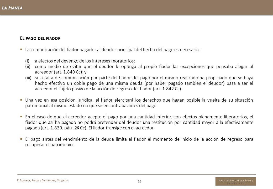 El pago del fiador La Fianza