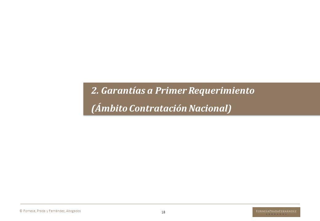 2. Garantías a Primer Requerimiento (Ámbito Contratación Nacional)