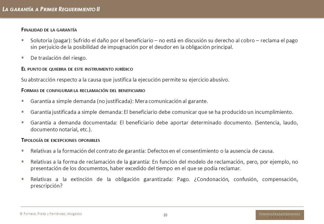 La garantía a Primer Requerimiento II