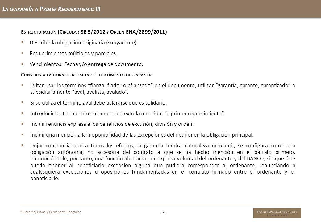 La garantía a Primer Requerimiento III