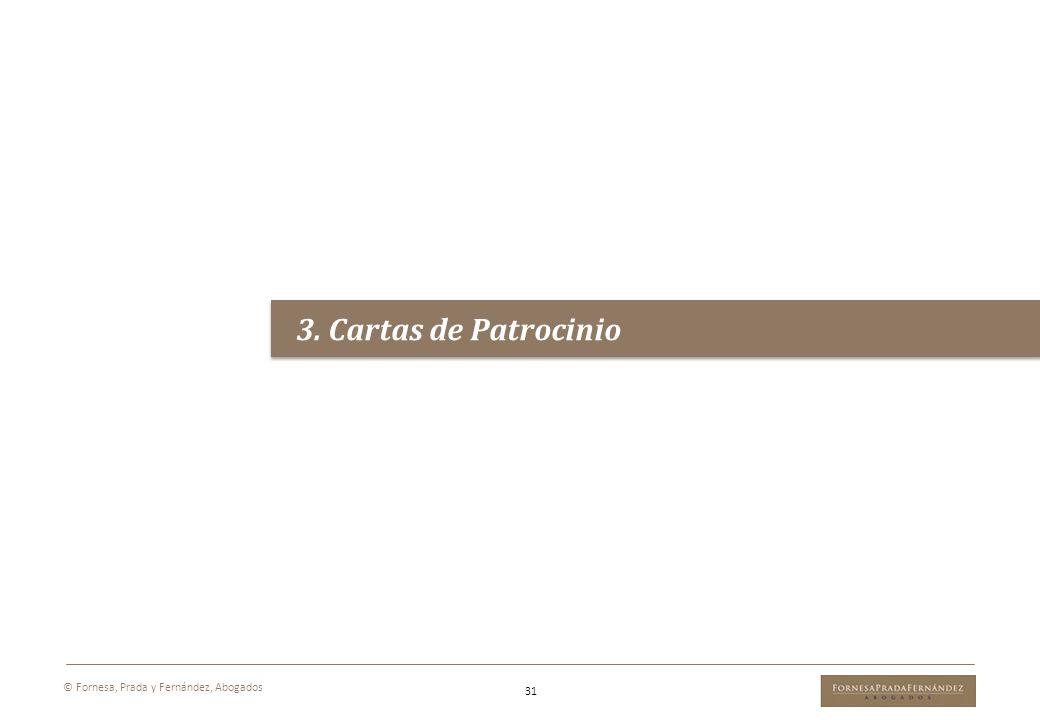 3. Cartas de Patrocinio © Fornesa, Prada y Fernández, Abogados