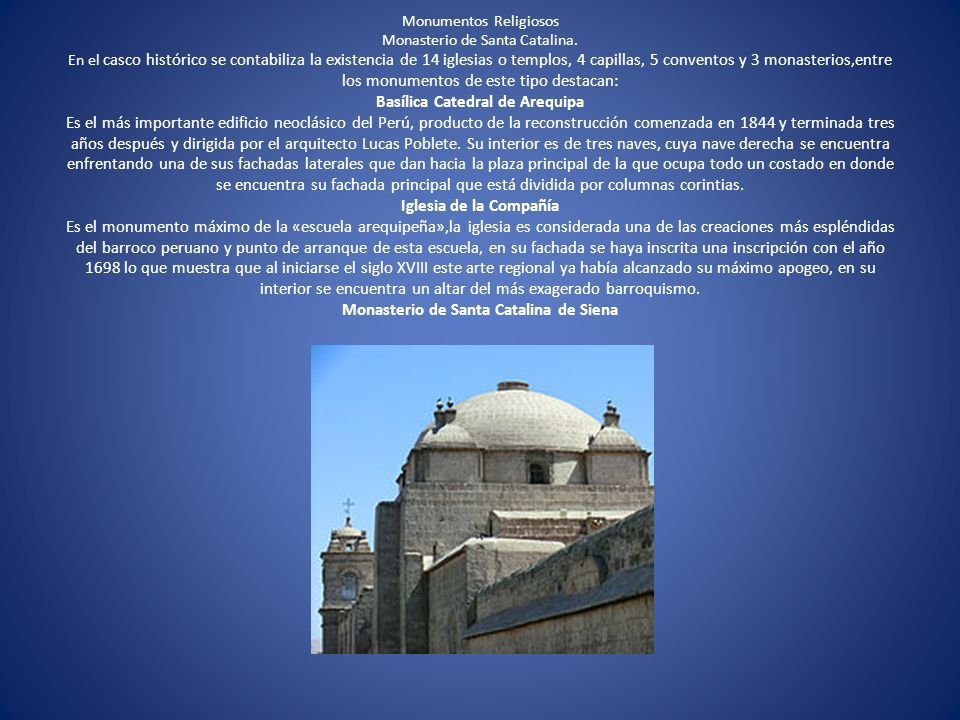 Monumentos Religiosos Monasterio de Santa Catalina